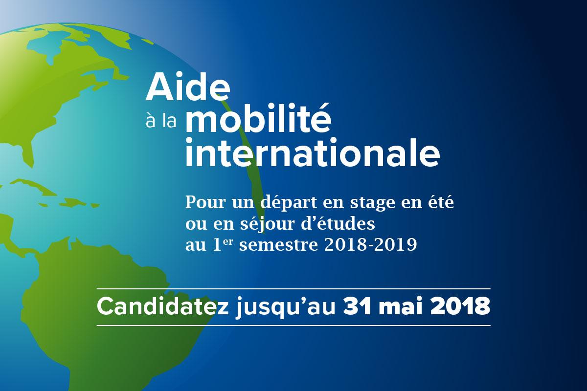 Aides à la mobilité : candidatures du 11 mai au 31 mai 2018