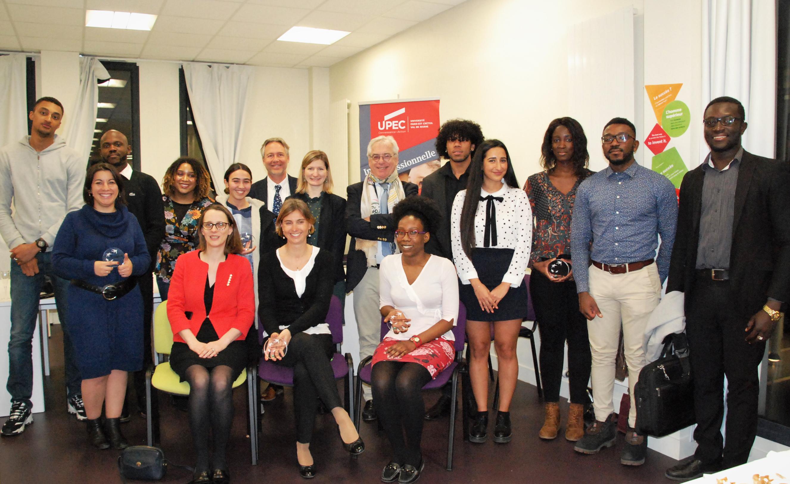 Groupe de lauréats Bourses UPEC et BNP Paribas 2019